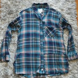 Melrose and Market Button Down Flannel Shirt